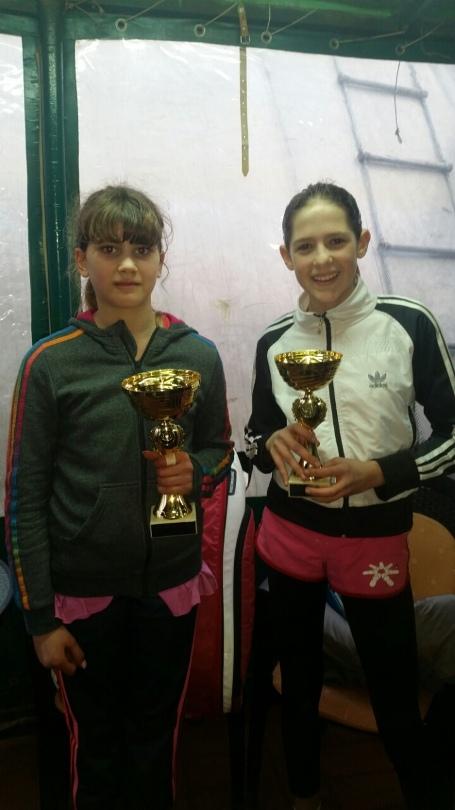 Teodora Gutić i Nevena Kolarević, finalistkinje Otvorenog prvenstva Beograda do 12 godina, Teniski klub Haron
