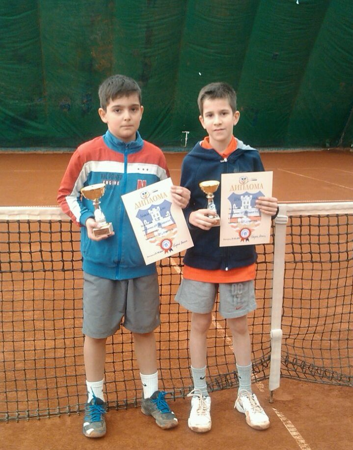 Miljan Marković i Marko Nikolić, finalisti OP Beograda do 10 godina zeleni nivo, Teniski centar Master