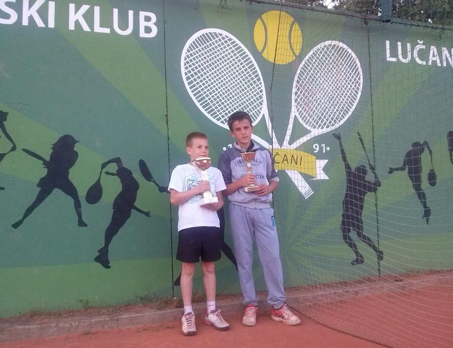Petrov Vanja i Luka Gavrilović, finalisti, Otvoreno prvenstvo Lučana u tenisu do 12 godina, Teniski klub Lučani