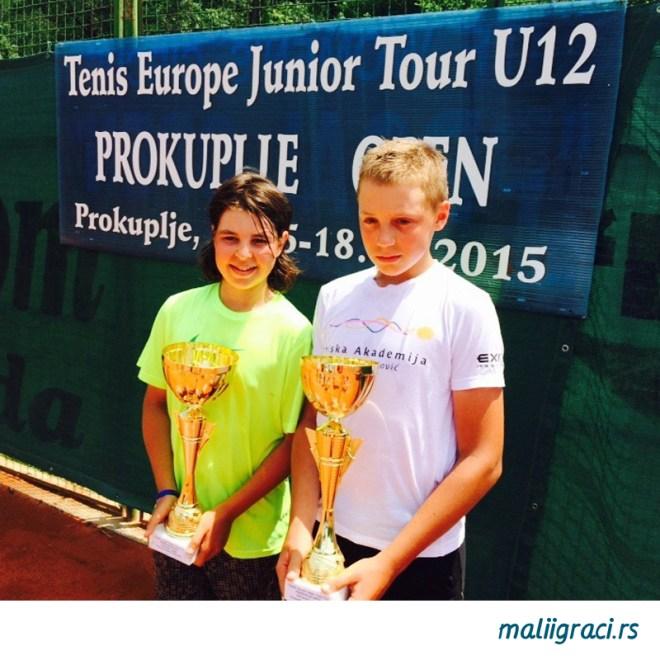 Hamad Međedović i Stefan Popović, Prokuplje Open 2015, Tennis Europe Junior Tour