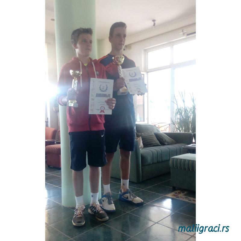 Danilo Krunić i Stefan Spasojević, Otvoreno prvenstvo Aranđelovca u tenisu do 16 godina, Teniski klub Ivančevic Sport Aranđelovac