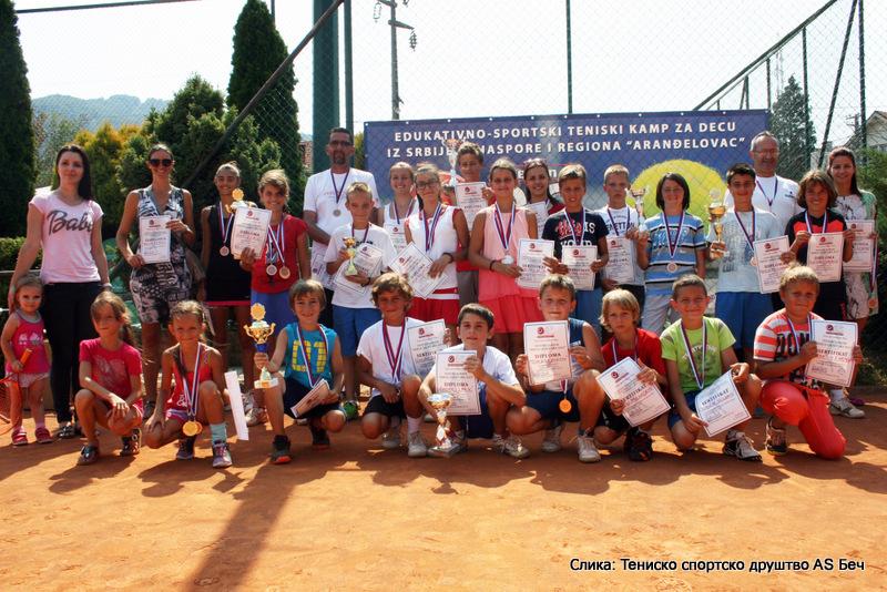 Tenisko sportsko društvo AS Beč, teniski kamp Aranđelovac 2015 u Bukovičkoj Banji, prvi Memorijalni turnir Jelena Genčić