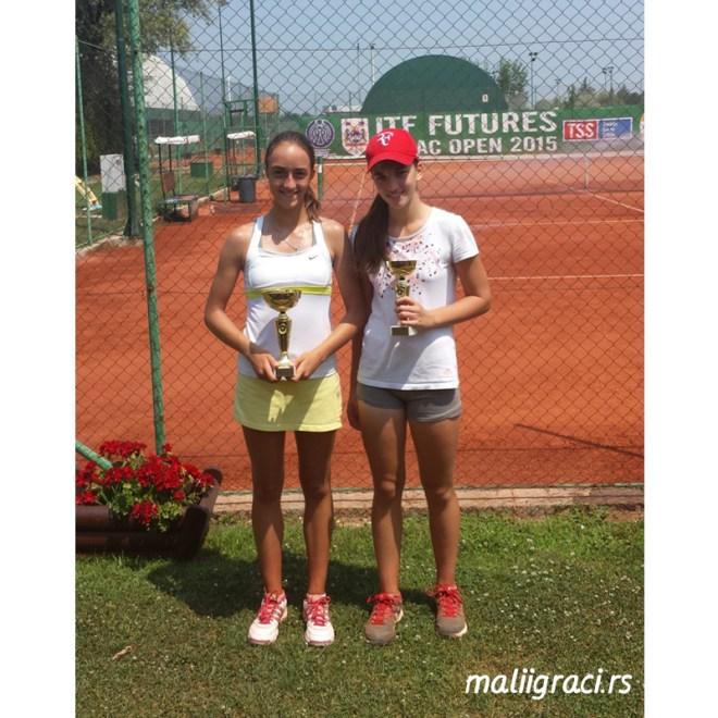 Milana Vulin i Iva Pantović, Otvoreno prvenstvo Šapca do 14 godina u tenisu, Teniski klub Sunrise Šabac