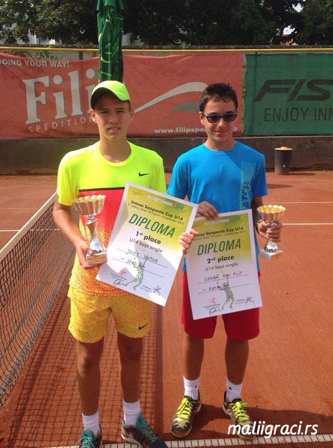 Viktor Jović, Filip Ioan Ceara, Intesa Sanpaolo Cup U14 Arad, Tennis Europe Junior Tour