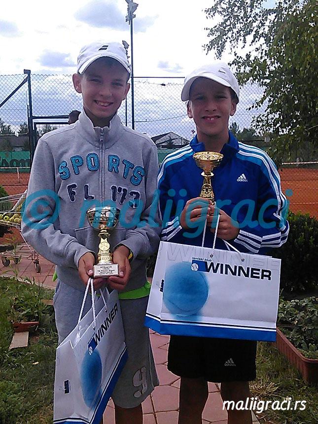 Vuk Rađenović, Marko Nikolić, Prvenstvo Beograda u tenisu do 10 godina, Teniski klub Winner Novi Beograd