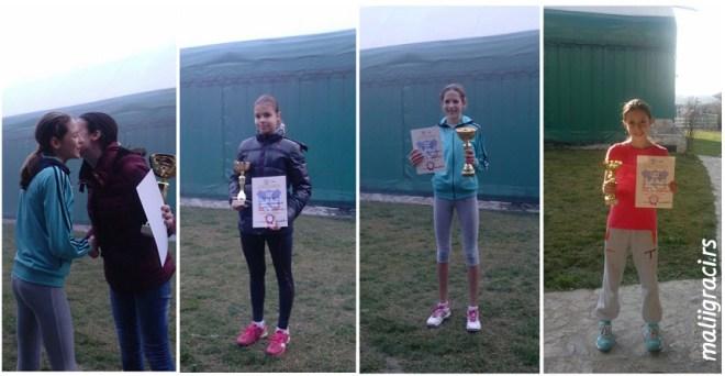 Julija Radenković, Nevena Kolarević, Andrea Obradović, Prvenstvo Beograda u tenisu do 12 godina, Teniski klub Green Set Beograd