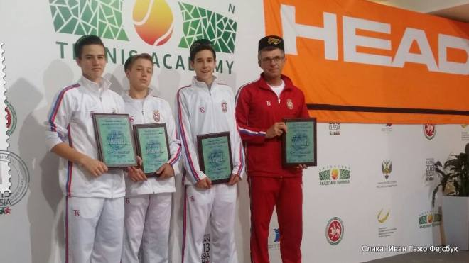 Ivan Gažo, Goran Životić, Hamad Međedović, Viktor Jović, Tennis Europe Winter Cups by HEAD