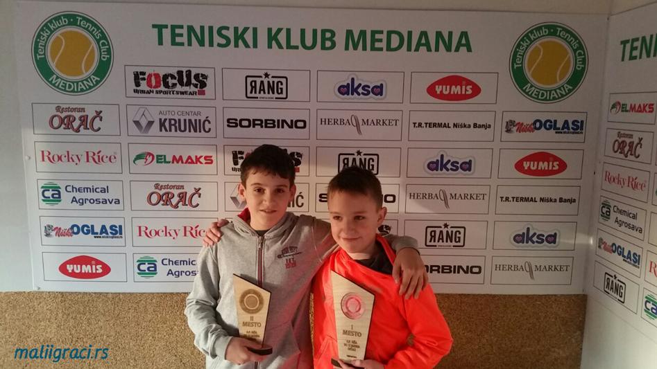 Haralampije Toskić, Romeo Hadžimehmedović, Otvoreno prvenstvo Niša do 12 godina, Teniski klub Mediana Niš