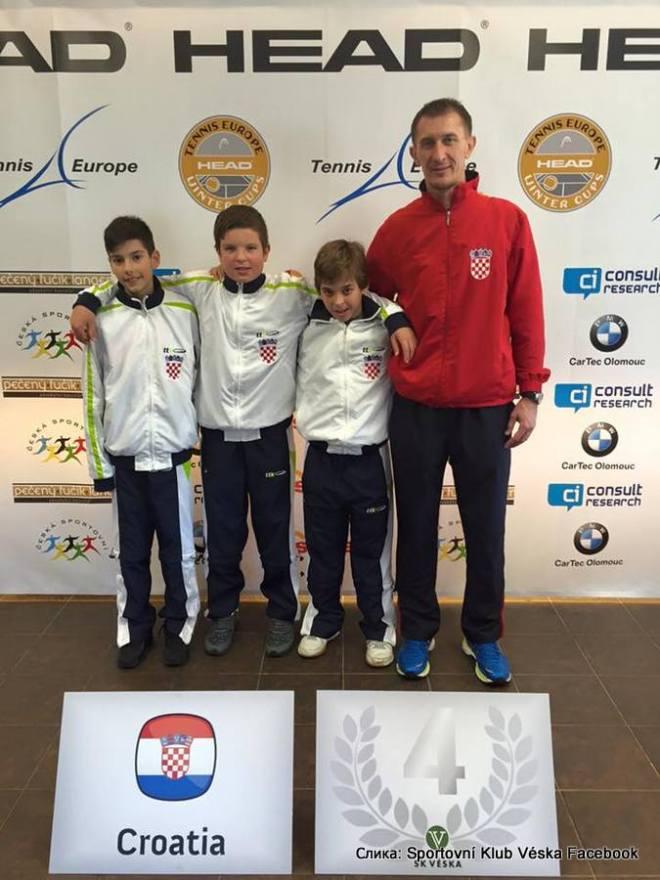 Dino Prižmić, Mili Poljičak, Luka Mikrut, Darko Klaić, Tennis Europe Winter Cups by HEAD
