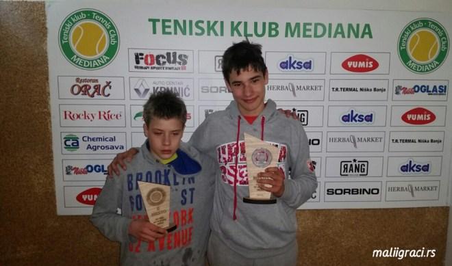 Luka Kalenić, Konstantin Todorović, Otvoreno prvenstvo Niša do 14 godina, Teniski klub Mediana Niš
