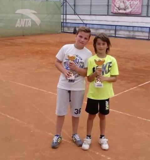 Danilo Jovanović, Ognjen Milić, Radost Jagodine do 10 godina zeleni nivo, Jagodinski teniski klub