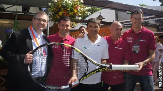 Erik Babolat, Dejan Cekić, Toni Nadal, brend menadžer Babolat Srbija