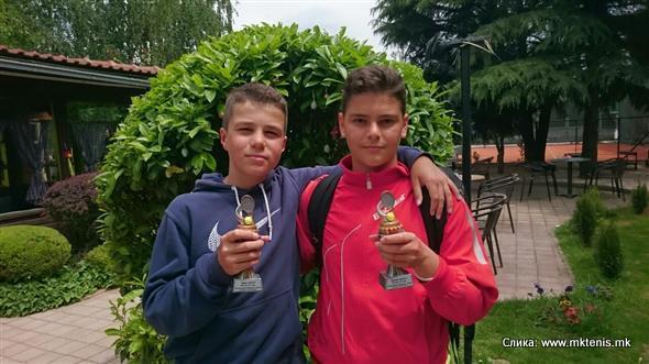 Berk Bugarikj, Damjan Popovski, Otvoreno prvenstvo Makedonije do 14 godina, Teniski klub Leontik-sport Skopje
