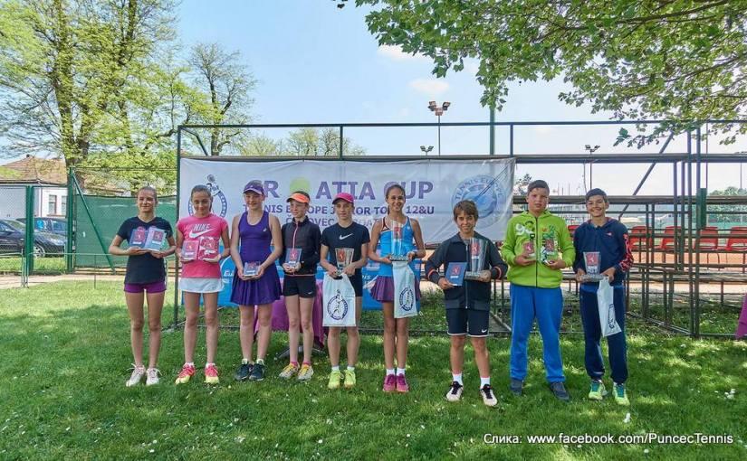 Mili Poljičak, Dino Prižmić, Lucija Ćirić-Bagarić, Luka Mikrut, Anca Alexia Todoni, Karolina Saskova, Croatia Cup U12 Čakovec, Tennis Europe Junior Tour