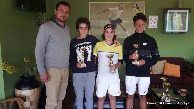 Stefan Popović, Budimir Tomanović, Danilo Raičević, Marko Petrović, Montenegro Cup 2016 Niksic U14, Tennis Europe Junior Tour, Teniski klub Nikšić