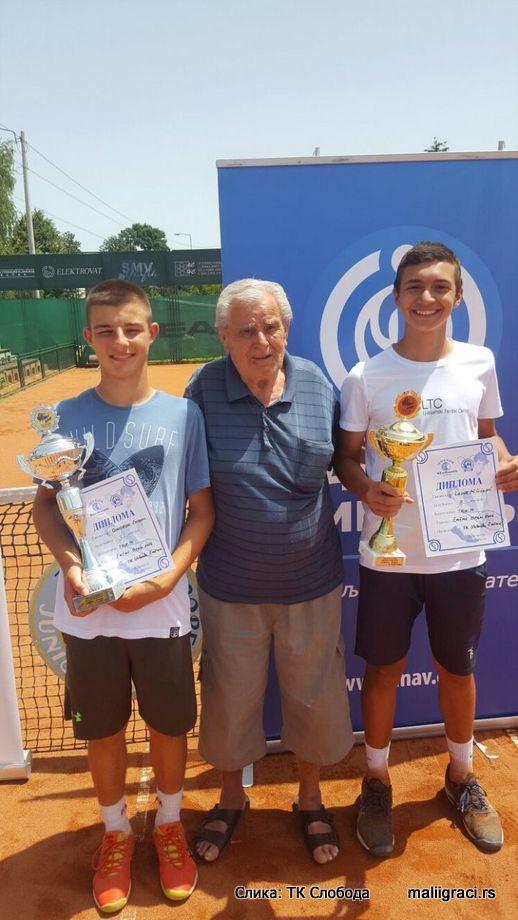 Dimitrije Zubac, Lazar Milićević, Cacak Open 2016 U14 Čačak, Tennis Europe Junior Tour, Teniski klub Sloboda Čačak