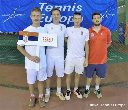 Vuk Bolić, Viktor Jović, Goran Životić, Uroš Jović, European Summer Cups 2016 U14, Tennis Europe Junior Tour