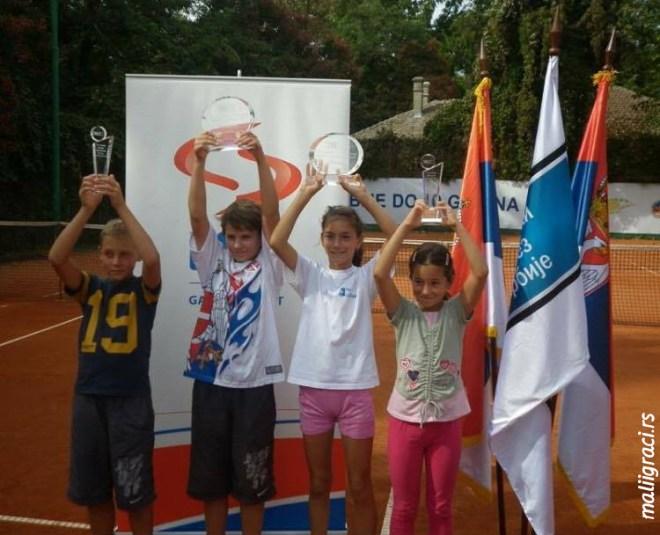 Hamad Međedović, Ilija Zoroja, Nevena Nešović, Jovana Cvetković, Kup Srbije do 10 godina 2010. godine, Teniski klub Vršac