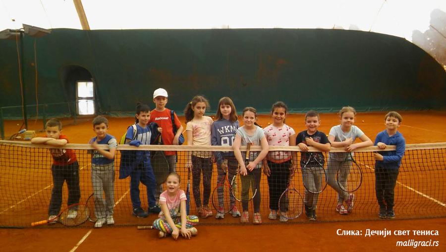 Deca iz Makedonije u gostima kod malih tenisera iz Beograda, Dečiji svet tenisa