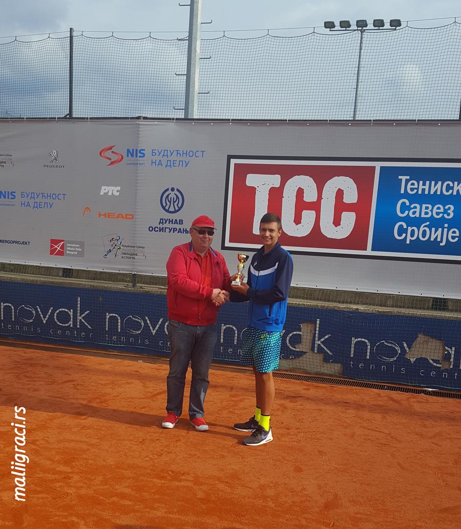 Lazar Milićević, Aleksandar Bolić, Letnje prvenstvo Srbije do 16 godina, Teniski savez Srbije Beograd