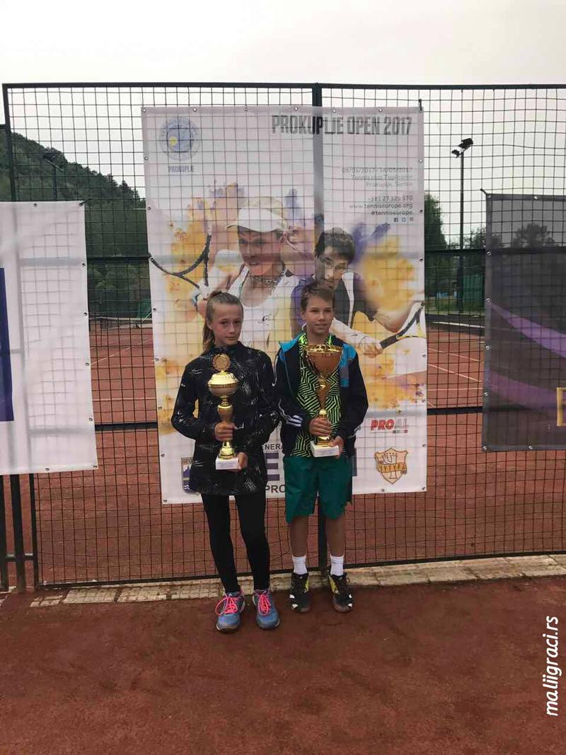 Jana Stojanova, Zoran Ludoški, Prokuplje Open 2017 U12, Tennis Europe Junior Tour, Teniski klub Topličanin Prokuplje