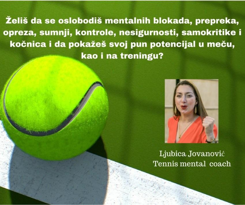 Љубица Јовановић – тренер за менталну припрему тенисера