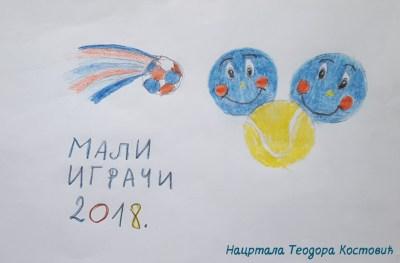 Teodora Kostović, crtež o Malim igračima, Babolat uzlet 2017, izbor tenisera koji je najviše napredovao u 2017, MIP, Go Up And Never Stop