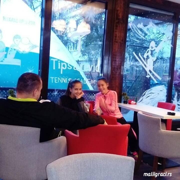 Milica Popovski, Dunja Marić, BEOGRAD OPEN 2018 U12, Tipsarević Tennis Academy, Teniska akademija Tipsarević Beograd, Tennis Europe Junior Tour