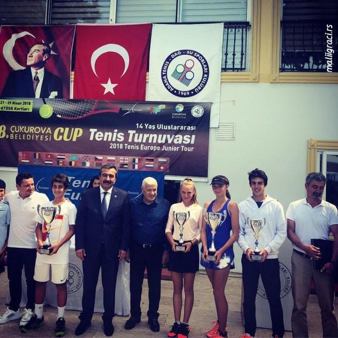 Fatma Idrizović, Melisa Senli, Baran Soyler, Doruk Gencer, Eda Arli, Cukurova Cup U14 Adana Turska, Antalya Turkey, Tennis Europe Junior Tour
