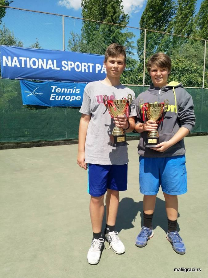 Nikola Jovanović, Nicolas Philibert, Tennis Europe National Sport Park Open U14 2018, Tirana, Albania, Albanija