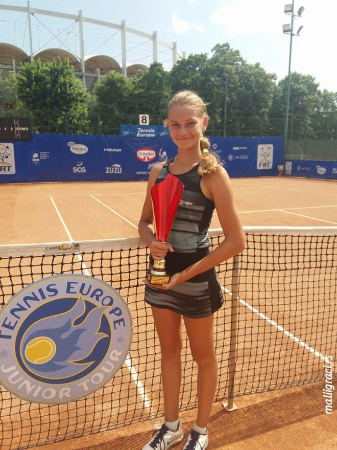 Aleksandra Simeva, Dr Oetker Junior Trophy 2018 U14 Bukurešt Rumunija, Tennis Europe Junior Tour