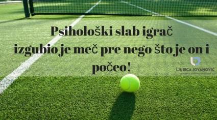 Ljubica Jovanovic trener za mentalnu pripremu tenisera