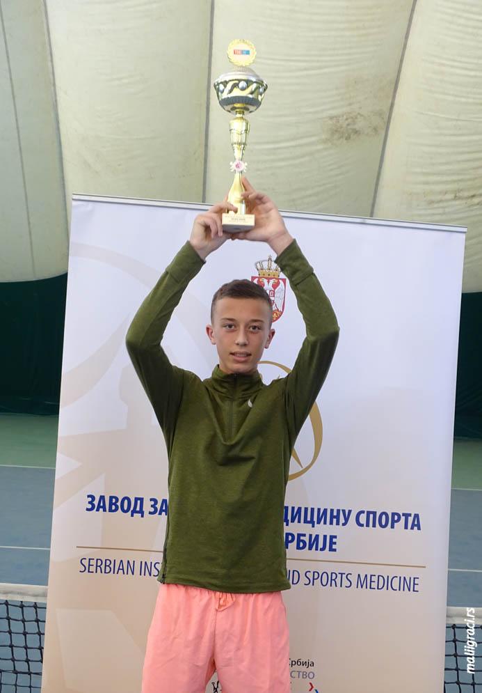 Luka Jovanović, Dvoransko prvenstvo Srbije do 16 godina, Teniski savez Srbije, Teniski klub Trim Beograd