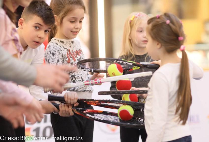 Тениски савез Београда промовисао тенис у BIG FASHION центру