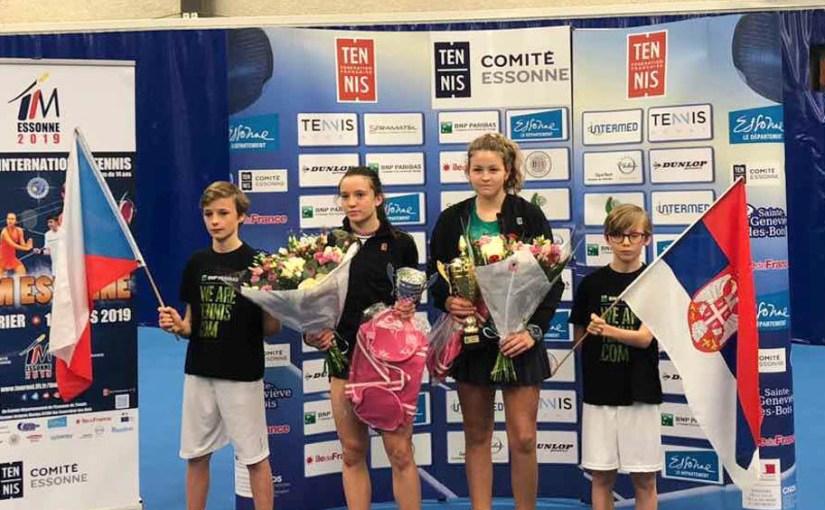 Tijana Sretenović, Kristyna Tomejkova, TIM Essonne U14, Pariz Francuska, Tennis Europe Junior Tour