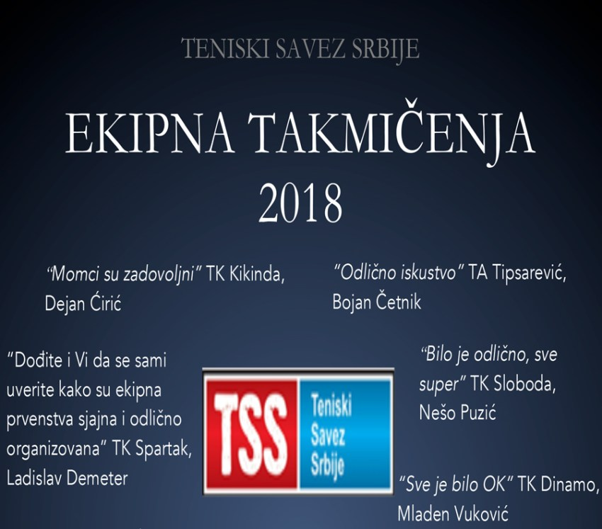 Најава екипних такмичења Тениског савеза Србије у 2019. години