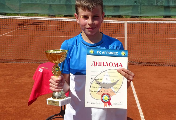 Marko Nešić, Otvoreno prvenstvo Beograda za dečake do 12 godina, Teniski klub Agrimes Beograd