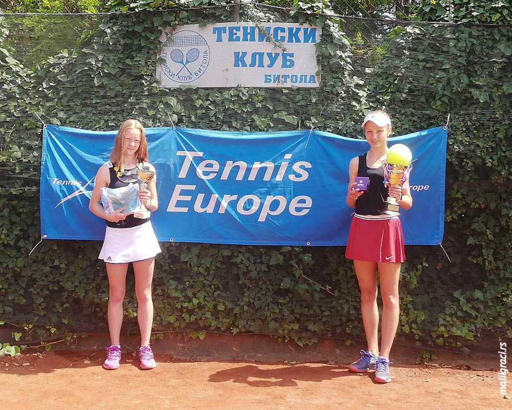 Klara Vaja, Alina Novozhenova, Bitola Open 2019 U14, Teniska akademija Pavlovski Bitolj Severna Makedonija, Tennis Europe Junior tour