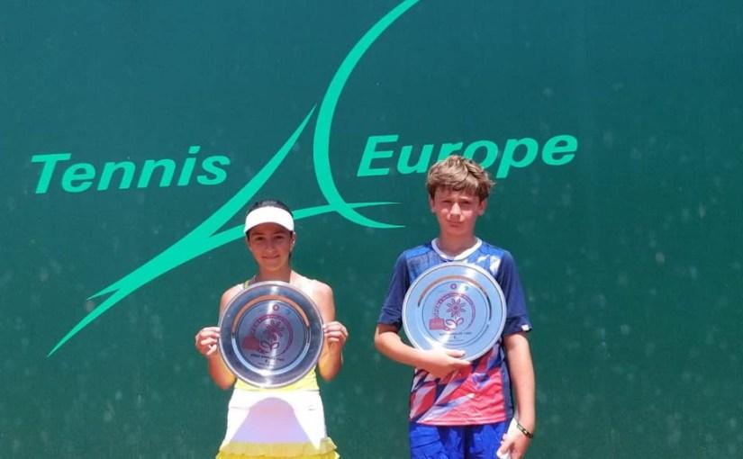 Nastasija Nesterović, Gregory Vrel Nagel, PRIJEDOR OPEN 2019 U12, Teniski klub Dr Mladen Stojanović, Tennis Europe Junior tour