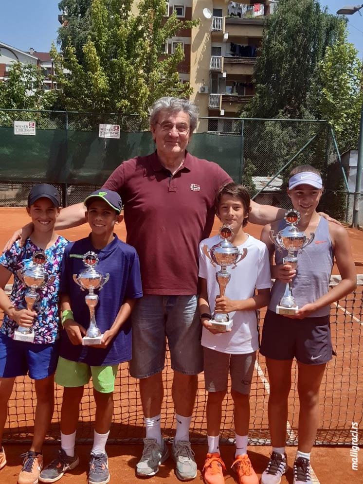 Ognjen Milić, Iva Lakić, Heremena Courte, Maria Masiianskaia, Milenko Ćojbašić, TENNIS POINT OPEN 2019 U12, Teniski klub Tennis Point Čačak, Tennis Europe Junior tour