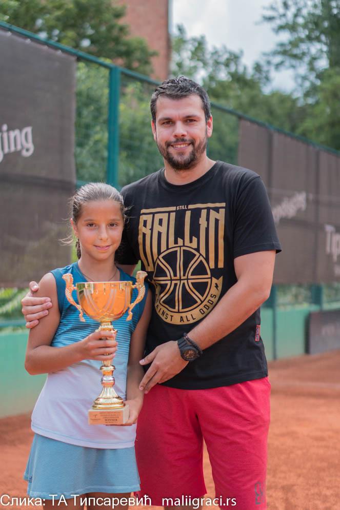 Aleksandra Stevanović, Nenad Ilić, MIŠIN MEMORIJAL 2019 U12, Teniska akademija Tipsarević Beograd, Tipsarević Tennis Academy, Tennis Europe Junior Tour