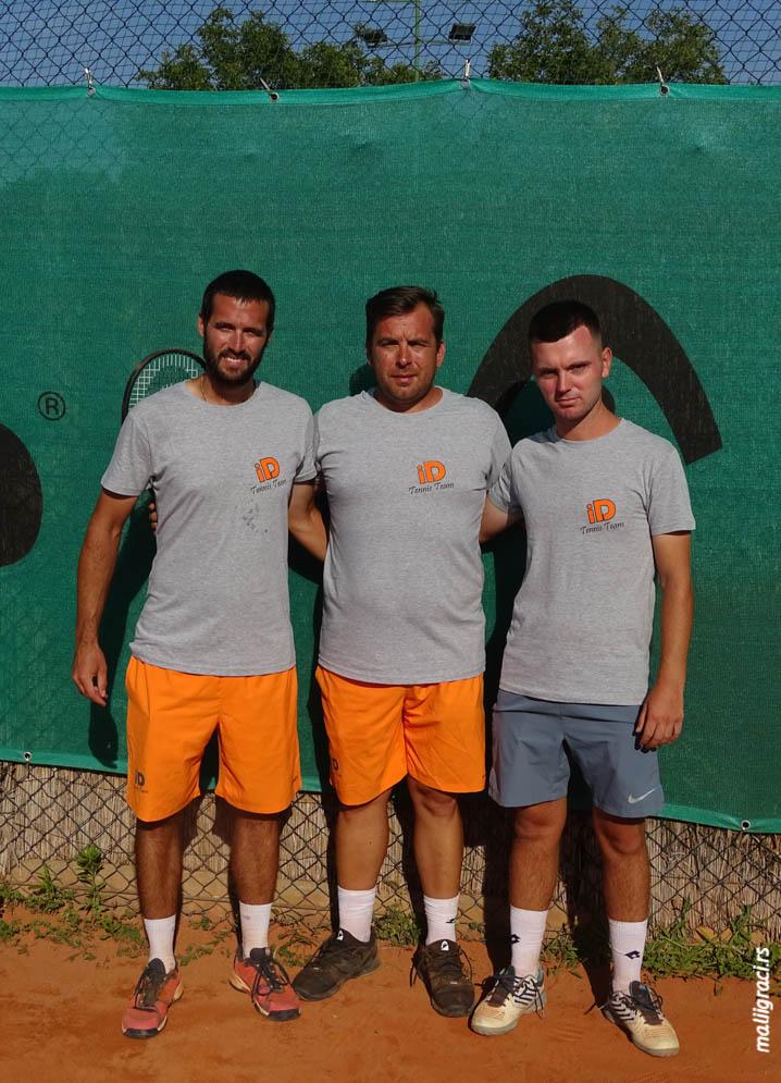 Ivan Dugandžić, Filip Živković, Miodrag Draguljević, ID Tennis Team Beograd, ID teniski tim Beograd