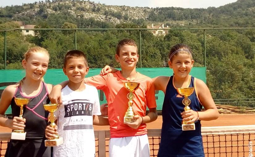 Marko Dragović, Skender Katana, Tara Rašović, Staša Bulatović, Eminent Open 12, TK Eminent Podgorica Crna Gora