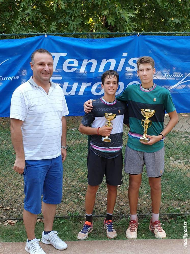 Mihailo Savić, Aleksa Pisarić, Neotel Open 2019 U16, TK Jug Skoplje, Severna Makedonija, Tennis Europe Junior Tour