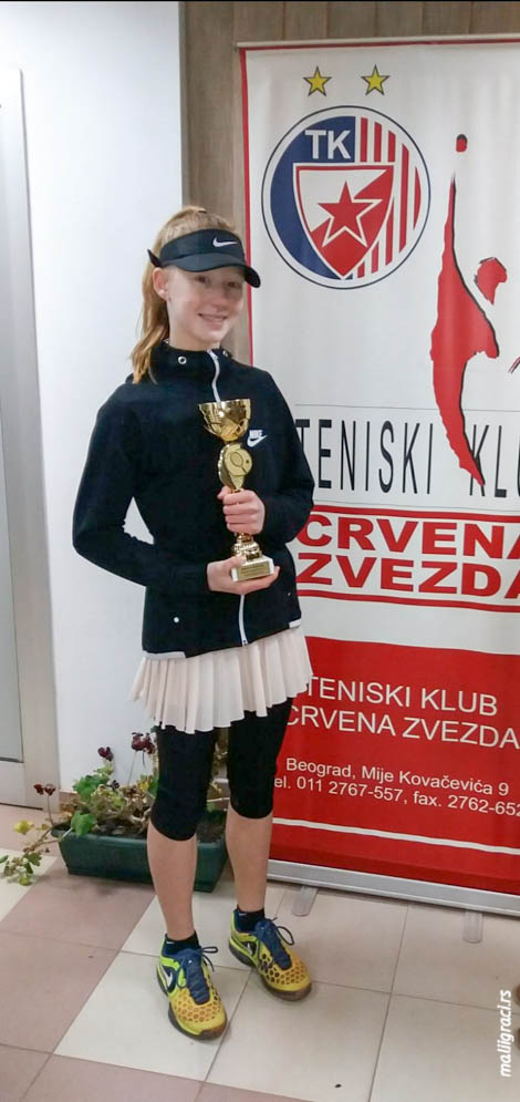 Klara Vaja, BOŽIĆNI TURNIR 2020 U14, Teniski klub Crvena zvezda Beograd, Tennis Europe Junior Tour