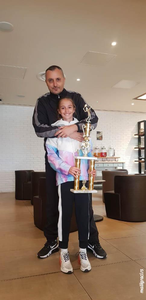 Mala teniserka Luna Vujović, Ivan Petković, Teniski klub Haron Beograd
