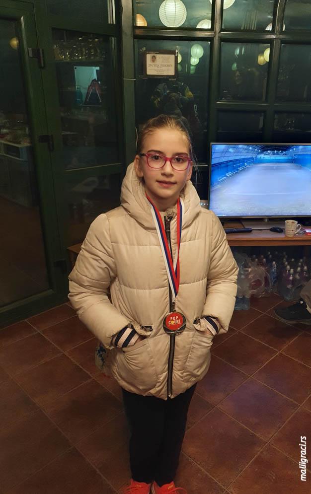 Teodora Arsić, Otvoreno prvenstvo Pančeva do 12 godina, Teniski klub Mladost Pančevo, Teniski centar Pop Court Pančevo