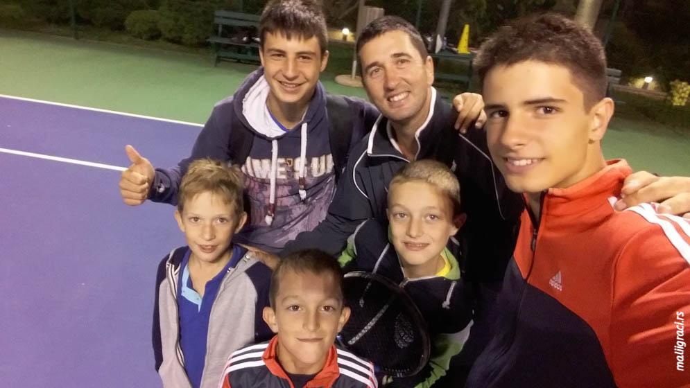 Vuk Krstajić, Martin Krstajić, Ivan Aranitović, Mario Aleksić, Bodin Aleksić
