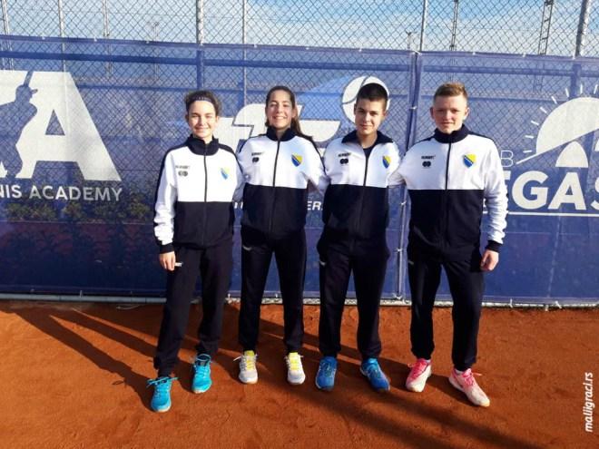 Marko Maksimović, Fatih Šišić, Anastasija Ignjatić, Asja Salkanović, Bosna i Hercegovina, ITF Tennis Europe U14 Development Championships, ITF Tennis Europe razvojni turnir U14