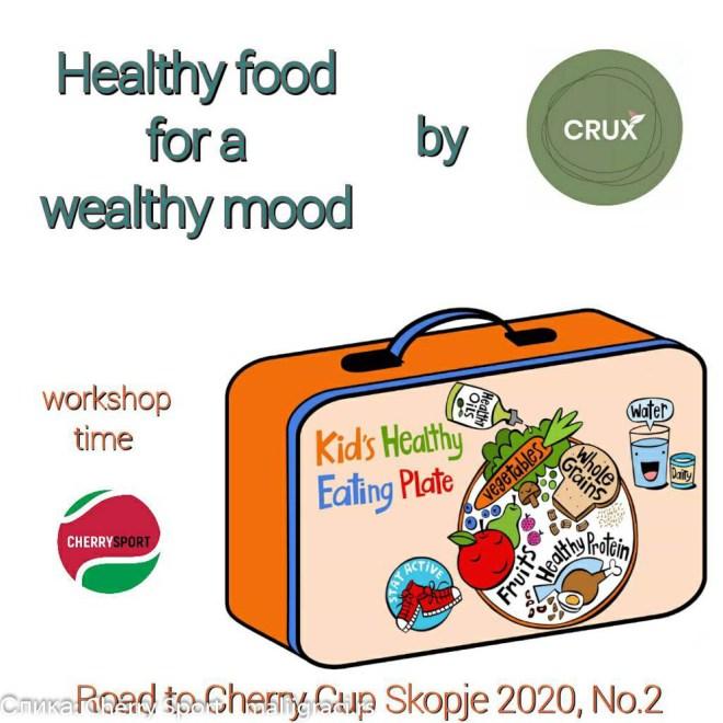 CRUX BAR zdrave hrane, Cherry Sport, Cherry Sport News by Mali igrači, Cherry Cup Skopje 2020, Dečiji svet tenisa